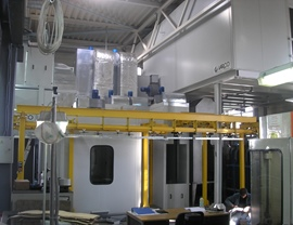 Automatic painting system for FESTO components