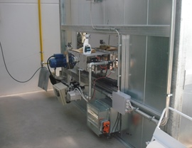 Application of the air vein burner on a static oven