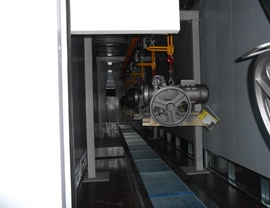 Internal view of the drying oven